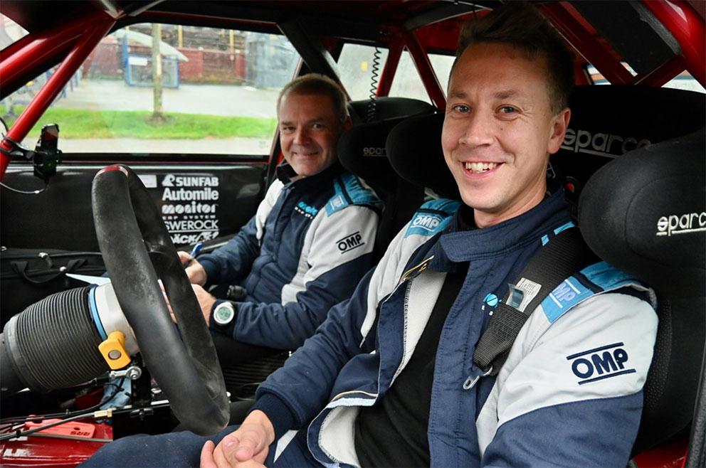 Patrik och Göran ser fram emot tempovägarna i Snapphanerallyt
